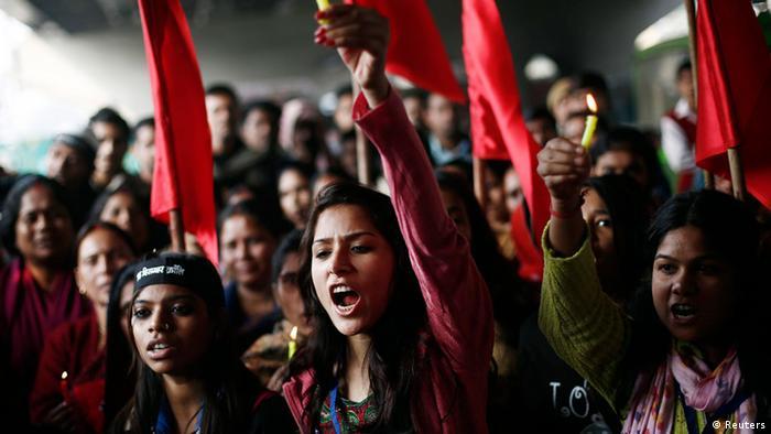 Indien Jahrestag Gruppenvergewaltigung