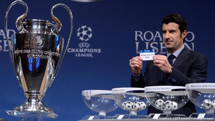 Champions League draw. Photo: AFP
