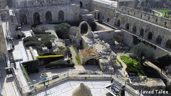 گوشهای از قلعه داوود یکی از بزرگترین جاذبههای توریستی اورشلیم
