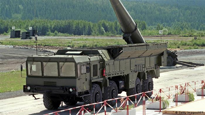 Russian Iskander missiles during a military parade in Moscos