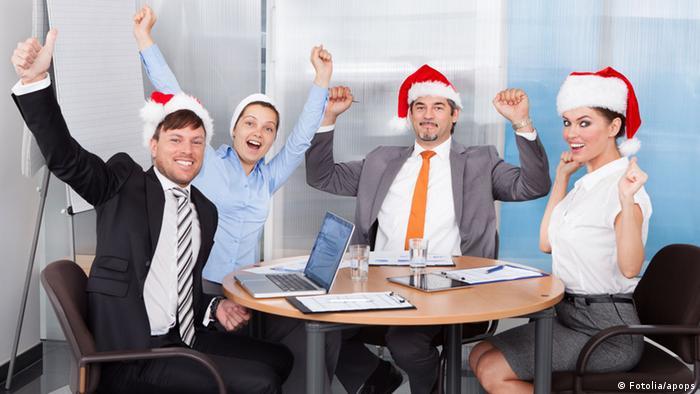 Рождественская вечеринка у офисных работников