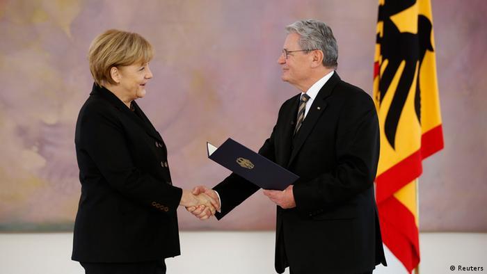 Angela Merkel Joachim Gauck Vereidigung Kanzlerin Kanzleramt 2013
