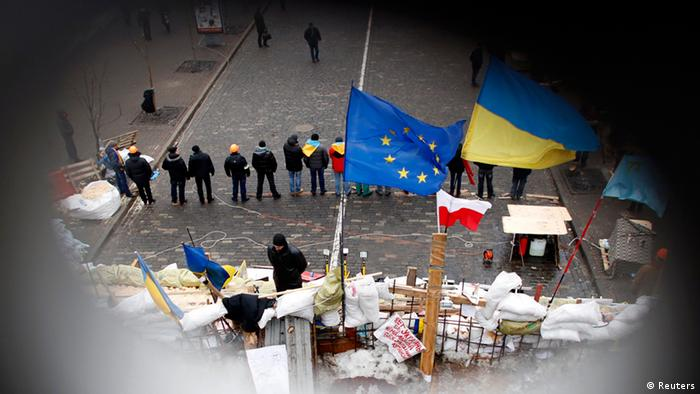 Ukraine Parlament Opposition Blockade Kiew
