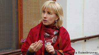 A picture of Veronica Timbalari, a social worker in the town of Straseni, Moldova