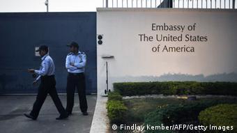 Indien Neu-Delhi Aktion gegen US-Botschaft