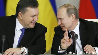 Віктор Янукович та Володимир Путін під час зустрічі в Москві в грудні 2013 року