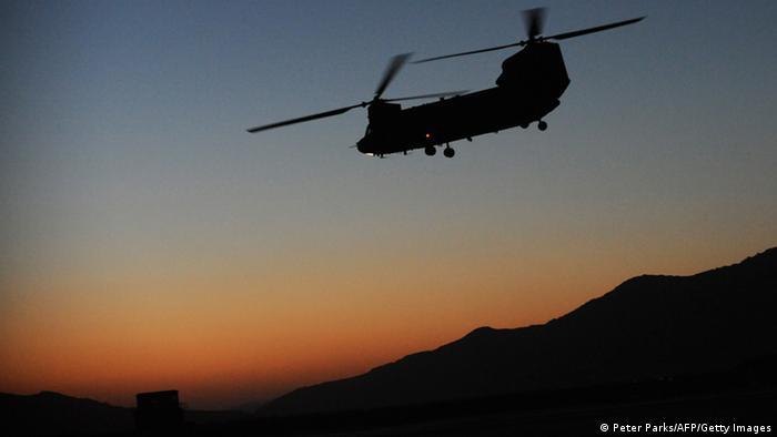 Symbolbild Afghanistan Absturz von Helikopter