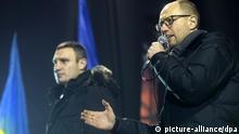 Ukraine Proteste in Kiew 17.12.2013 Arsenij Jazenjuk und Witali Klitschko