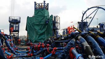 Інфраструктура Shell на Юзовському родовищі (фото з архіву, 2013 рік)