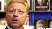 FRANKFURT AM MAIN, GERMANY - OCTOBER 09: Boris Becker, author, former tennisplayer, presents his book at the Frankfurt Book Fair, on October 10, 2013 in Frankfurt am Main, Germany. This year's fair will be open to the public from October 9-13 and the official partner nation is Brazil. (Photo by Hannelore Foerster/Getty Images)