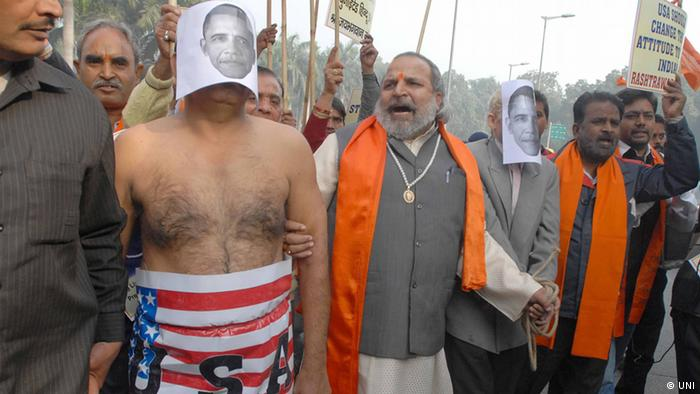 New Delhi protest outside US embassy