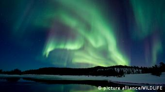 Aurora Borealis pictured in Lapland, Finland, Photo: picture alliance/WILDLIFE