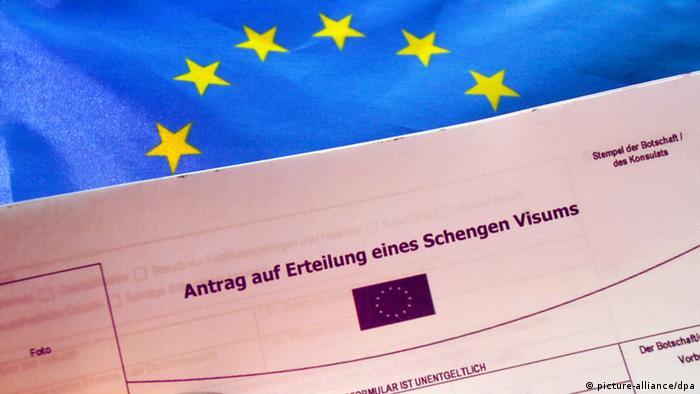 Symbolbild Antrag Schengen Visum Europa EU