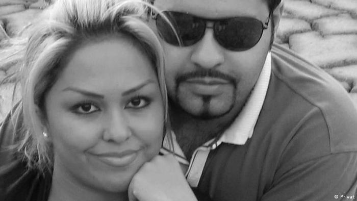 پیمان عارفی و همسرش، زیبا صادقزاده