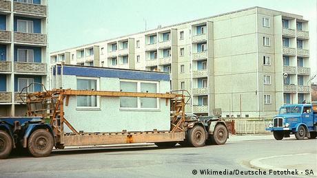 Plattenbau Dresden 1975 Deutschland