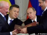 Віктор Янукович та Володимир Путін під час підписання міждержавних угод у Москві, 17 грудня 2013 року
