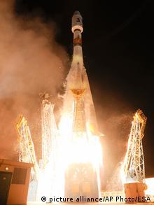 Запуск европейского космического телескопа Gaia ракетой Союз-СТ с космодрома Куру 19 декабря 2013 года.
