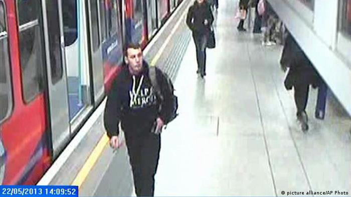 Lee Rigby Woolwich Bahnhof in London 22.05.2013