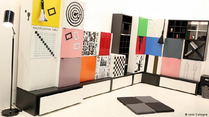 На мебельной выставке в Кельне