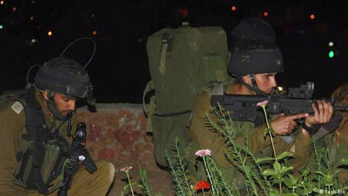 Israeli soldiers during a training operation