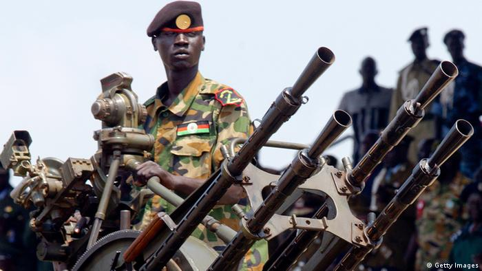 A soldier in Juba, South Sudan
