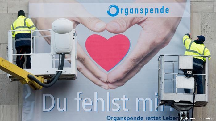 Plakat zum Thema Organspende