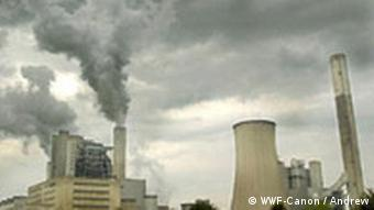 A coal-fuelled power station in Germany spews out CO2