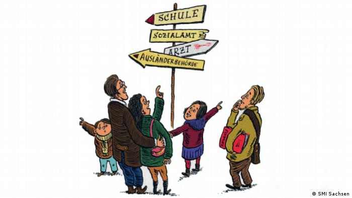 Comic-Knigge für Asylbewerber Sachsen