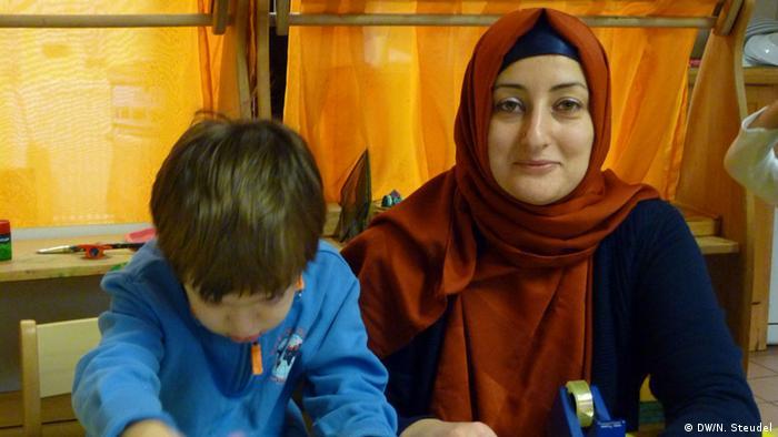 Muslimischer Kindergarten Portrait Erzieherin Seyma Bozkurt