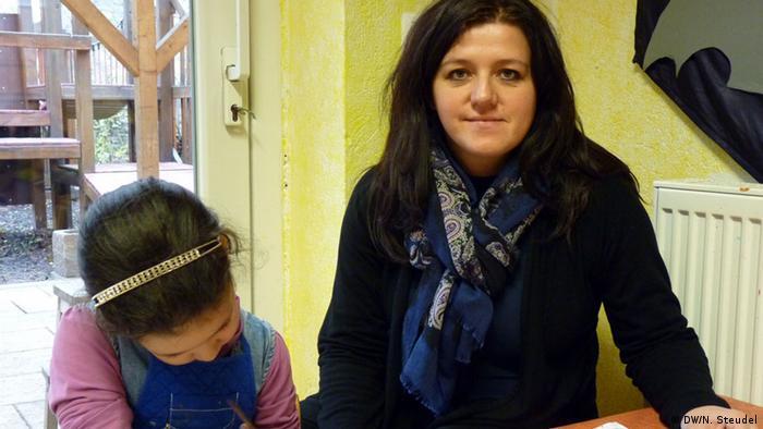Muslimischer Kindergarten Portrait Erzieherin Mirela Dedajic