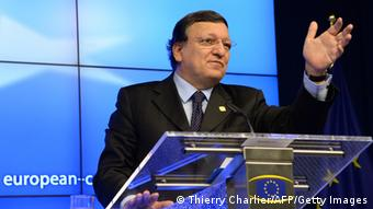A picture of José Manuel Barroso at an EU summit in December 2013