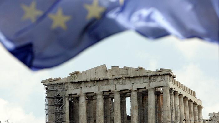 Akropolis EU-Flagge (Foto: picture-alliance/dpa)