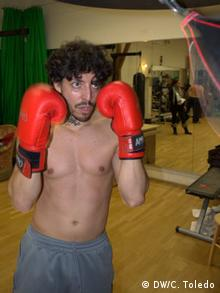 Francisco del Solar, entrenando antes de la obra.