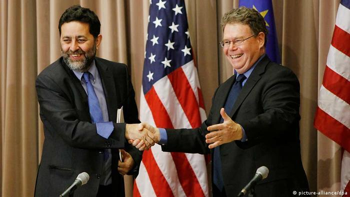 Ignacio Garcia-Bercero und Dan Mullaney at TTIP talks