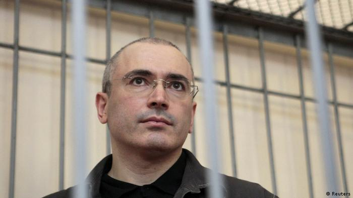 Previously jailed former Russian oil tycoon Mikhail Khodorkovsky