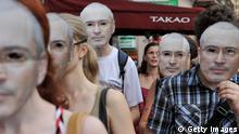 Pro Michail Chodorkowski Demonstration St. Petersburg 2013