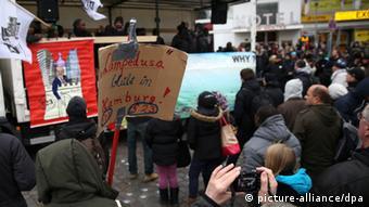 Hamburg protesters