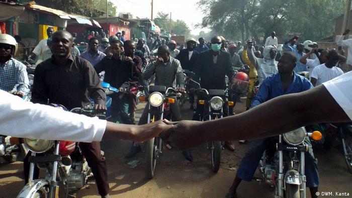 Proteste gegen den Energiekonzern Areva in Nigers Hauptstadt Niamey (Foto: DW/Mahaman Kanta)