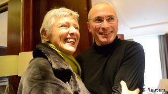 Марилуизе Бек и Михаил Ходорковский (фото из архива)