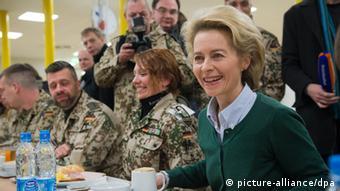 Ursula von der Leyen visits German soldiers in Afghanistan
