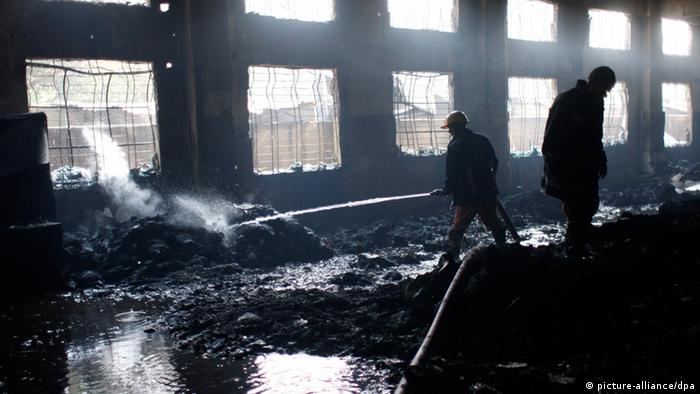 Feuer in Tazreen Fabrik November 2012