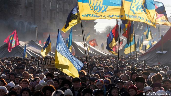 Ukraine Kiew Anit-Regierungsproteste - Menschenmenge