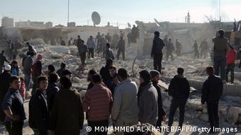 شهر حلب بار دیگر در روز یکشنبه (۲۲ دسامبر) هدف حمله سنگین هوایی قرار گرفت
