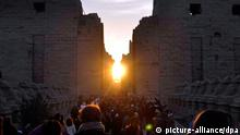 Ägypten Tempel Karnak Sonnenaufgang