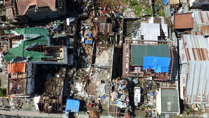 View of the destroyed areas within the city of Palo in the Philippines (Photo: I.S.A.R. Germany)