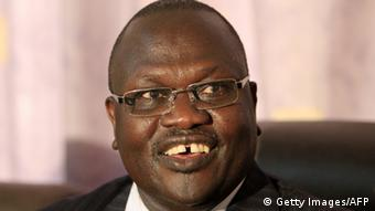 Close-up picture of former South Sudanese Vice President Riek Machar.