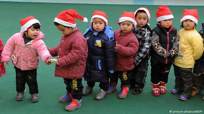 China Weihnachten Kinder