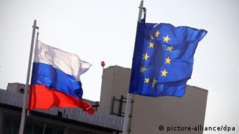 Флаги ЕС и России