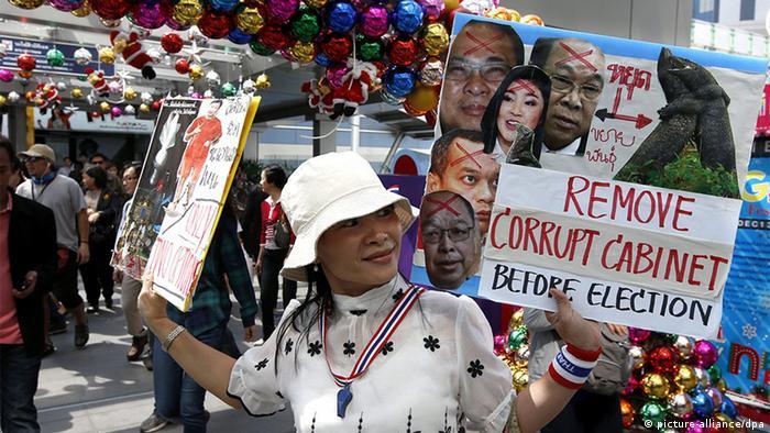 Thailand Opposition Demonstration Regierungsgegner