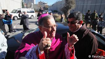 Patriarch Fouad Twal bei seiner Ankunft in Bethlehem (Foto: REUTERS)